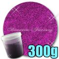 300g Bottle Nail Art Glitter - PURPLE - 300g