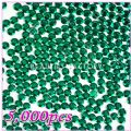5000pcs 5mm PRO Rhinestones (Round)  Green 09 - 5000pcs 5mm