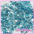20000pcs Heart Shape Rhinestones  Light Blue 07 - 20000pcs