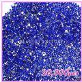 Nail Art 20000pcs 2mm PRO Rhinestones (Round) 06 Round Blue Rhine...
