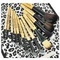 12pcs Makeup Brush Set (White Leopard) - 12pcs