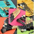 12pcs Makeup Brush Set (Turquoise) - 12pcs