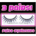 3 Pairs x Eyelash #V817 - 8 pairs