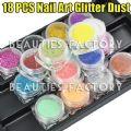 18 x Nail Art Glitter Dust - 18