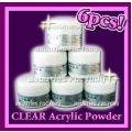 SPECIAL OFFER - Clear Acrylic Powder x 6 - 6x0.5oz