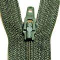 Khaki Zip Fastener - 18 cm