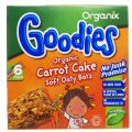 Organix Goodies Carrot Cake Cereal Bars - Pack of 6 x 30g