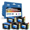 Super Saver Valuepack of 5 Remanufactured Dell 7Y743 & 7Y745 Ink ...