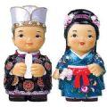 Oriental figurine, handmade Japanese King and queen figurines gif...