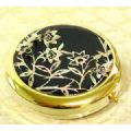 Compact case for loose powder refill, mother of pearl handmade gi...